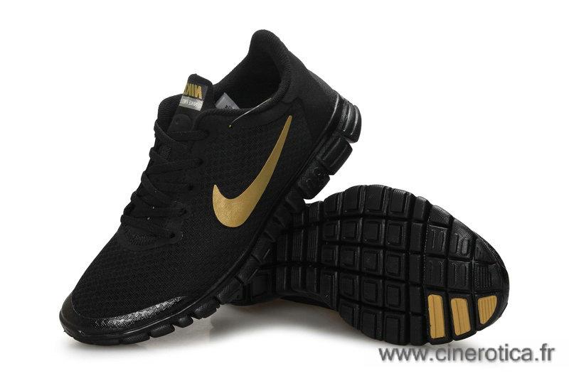 nike femme chaussure noir doree